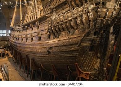 Vasa warship. Swedish warship that was built from 1626 to 1628.