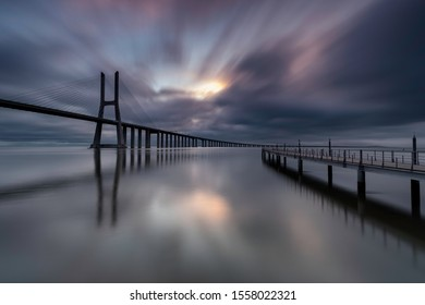Vasco da Gama Bridge sunrise