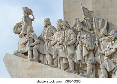 Vasco De Gamm Monument Lisbon Portugal