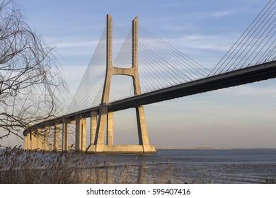 Vasco of gama bridge in Lisbon