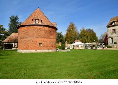 Vascoeuil, France - november 1 2017 : the castle, Jules Michelet museum - Shutterstock ID 1132324667