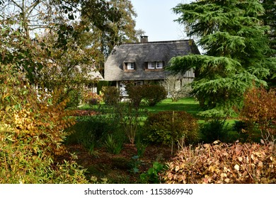 Vascoeuil, France - november 1 2017 : the castle, Jules Michelet museum