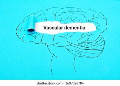 Vascular dementia. Mental health brain torn paper concept. Mental disorder.