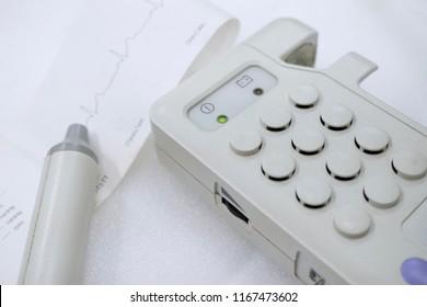 Vascular doppler used listen Blood Flow heart sound.