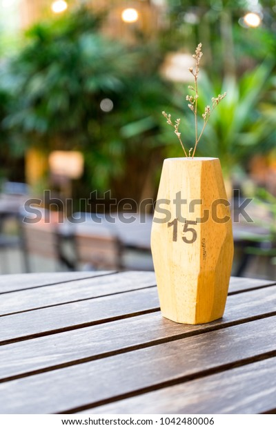 Vase on the table background texture