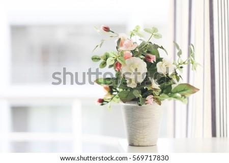 Vase Pretty Flowers Stock Photo Edit Now 569717830 Shutterstock