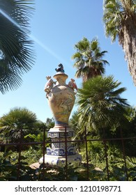 Vase of Vichy standing in a nice little botanical garden in Spain