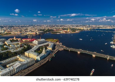 Vasilievsky Island. St. Petersburg from the heights.