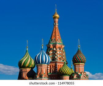 Vasily the Blessed cathedral in the Red Square, Moscow, Russia