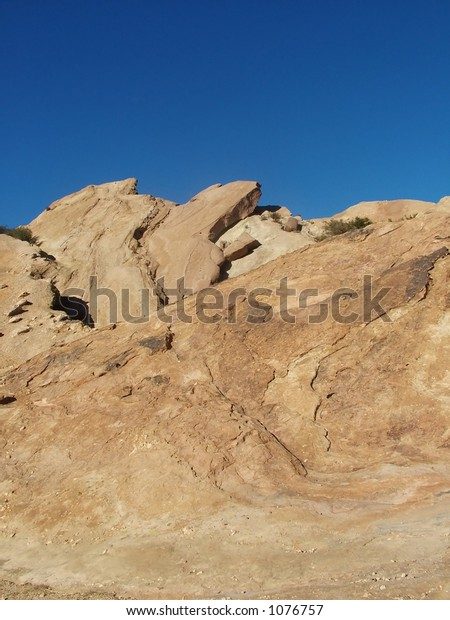 Vasquez Rocks against sky