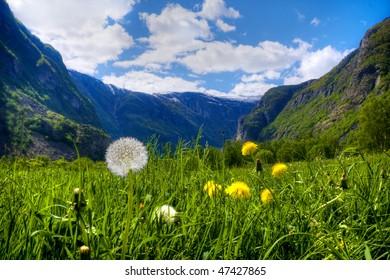 Vassbygdi in Aurland West Norway