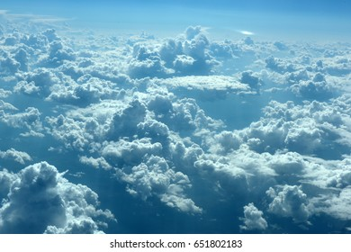 The vast blue sky and clouds sky - Shutterstock ID 651802183