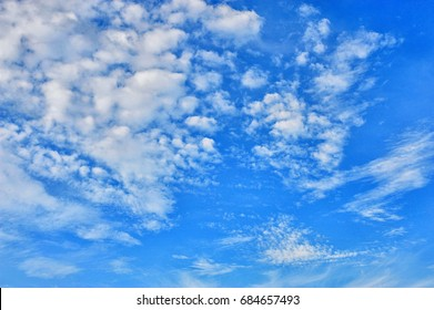 The vast blue sky and clouds sky. Blue sky and clouds for background