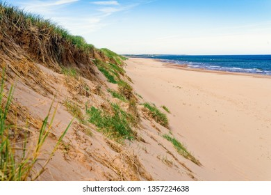 The vast expanse of the beach in Greenwich, at the PEI National Park, Prince Edward Island, Canada.