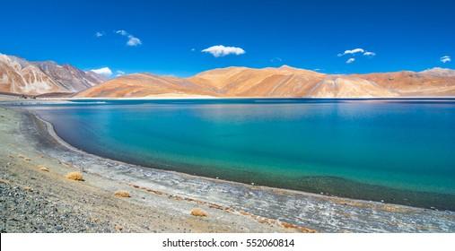 vast Pangong lake in Leh Ladakh, India