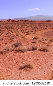 Vast red desert at Valley of Fire State Park in Nevada