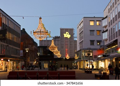 Vasteras, Sweden - November 23th: Christmas decoration in Vasteras City on November 23, 2015 in Vasteras City, Sweden.