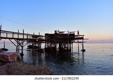 Vasto, Abruzzo, Italy 11 June 2018 Machine of Fishing on Abruzzo coast