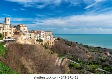 Vasto, Chieti district, Abruzzo, Italy, view of the village on the Adriatic coast