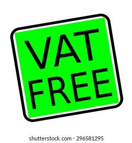 VAT FREE black stamp text on green background