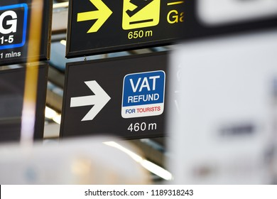 VAT refund direction with arrow