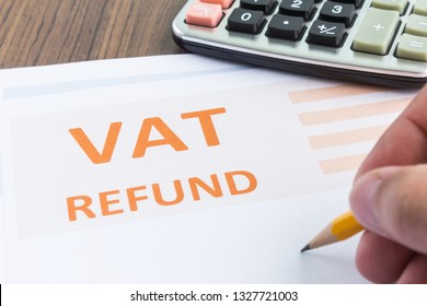 vat refund form concept in top view