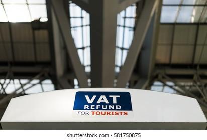 Vat refund for tourist sign