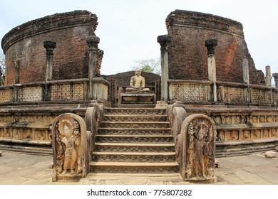 Vatadage, Ruins of Quadrangle, Polonnaruwa, Sri Lanka