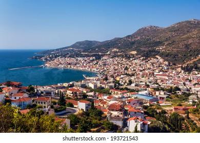 Vathy port in Samos island Greece