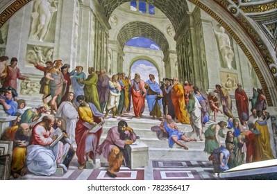 Vatican City, Vatican City - 05/09/2010 - Vatican City - Vatican Museums - Raphael's School of Athens