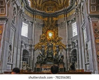 Vatican City, Vatican City - 05/09/2010 - Vatican City - Saint Peters Bernini's Main Altar