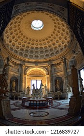 Vatican CITY - 05/21/2014: The Vatican Museums are located in Viale Vaticano in Rome, inside the Vatican City State with works by Michelangelo and Raphael