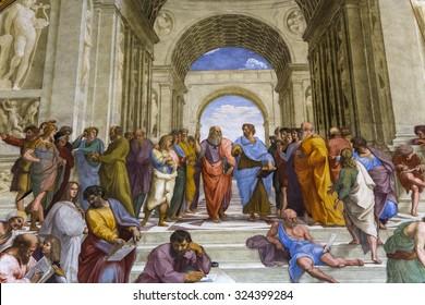 VATICAN CITY, VATICAN, JUNE 12, 2015 : interiors and architectural details of Raphael rooms in Vatican museum, june 12, 2015, in Vatican city, Vatican