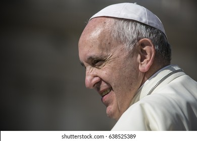 VATICAN CITY, VATICAN - June, 2016: Pope Francis during a weekly ceremony in the Vatican City.