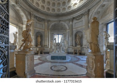 Vatican City - March 23, 2018: Sculpture and art in the Vatican Museum, Vatican City, Rome, Italy