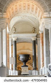 VATICAN, VATICAN CITY - MAY 7, 2016: Interior of the Vatican Museum. It was established in 1506