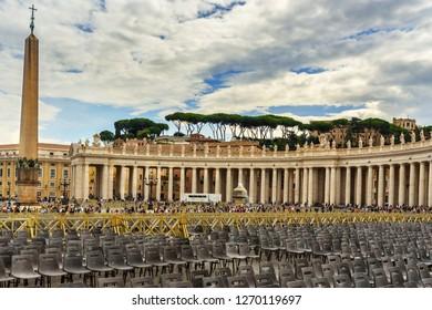 Vatican city, Vatican - October 05, 2018: Saint Peter's square