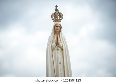 Vatican City, October 08, 2016: Statue of Our Lady of Fátima during a Marian Prayer Vigil in St. Peter's Square at the Vatican.