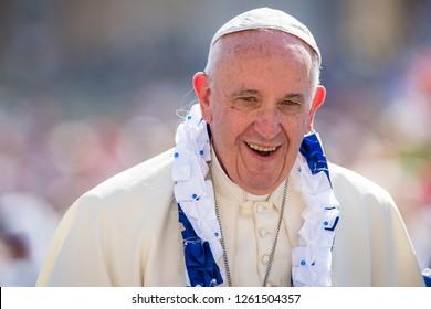 Vatican City, September 03, 2016: Pope Francis close up