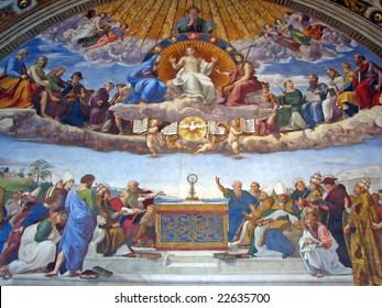 Vatican Museums - Room of The Segnatura - Disputation over the Most Holy Sacrament