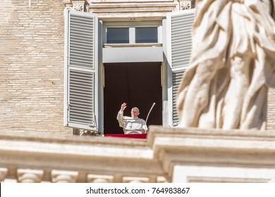 Vatican, November 19, 2017: Pope Francis during Urbis et Orbis prayer on Sunday.