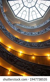 Vatican - October 30, 2013. Bramante Staircase in Vatican Museums. The double helix staircase is the famous travel destination of Vatican.
