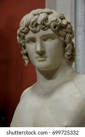 VATICAN, ROME, ITALY - APR 16, 2010: Antinous, Vatican Museum, Europe