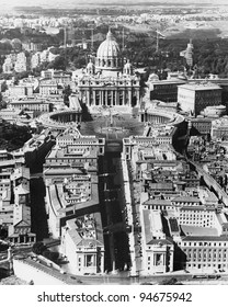 The Vatican as seen from above