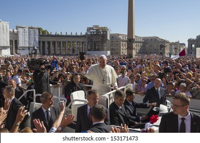 VATICAN - September 4, 2013: Pope Francis I in Rome, Italy