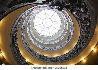 Vatican spiral staircase with beautiful rails