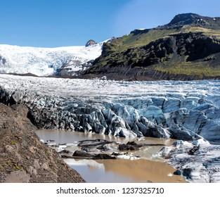 The Vatnajokull glacier