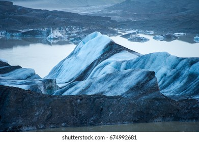 Vatnajokull - Icelandic glacier. It is the largest and most voluminous ice cap in Iceland, and one of the largest in area in Europe. It is located in the south-east of the island.