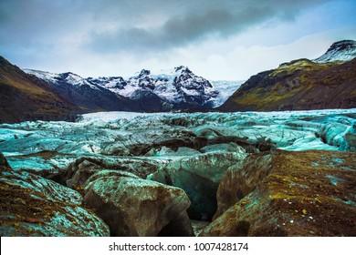 Vatnajokull National Park, one of three national parks in Iceland, the area include Vatnajokull glacier, Skaftafell and Jokulsargljufur