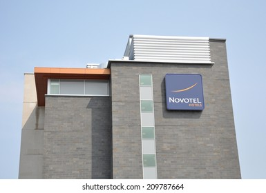 Vaughan, Ontario - August 3, 2014: Novotel Hotels are chain of hotels that provide business and leisure travelers with modern accommodations and highly accessible locations.